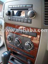 Jeep grand cherokee chrome radio knob wheel bezel button surround