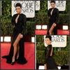 Designer Dresses!Custome Made Elegant A-line Floor Length V-neck Lace with Chiffon Celebrity Prom Evening Dresses 2013