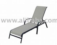 Garden Furniture Sling Sun Lounger Chaise Lounge