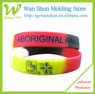 Eco-friendly segmented marble silicone wristband