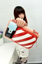 2012 new stylish Girls Sweet Color Transparent Hyaline Tote fashion Rainbow handbags