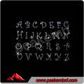 bling fonte script carta firefox ferro alfabeto design strass para roupas