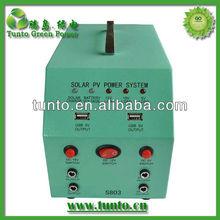 Mini solar lighting system solar energy/ 12V 25W solar panel+3W LED+ USB+ Battery