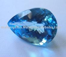 Natural Blue Topaz Pear Cut