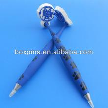 printing dog paw logo pvc ball pen for christmas kids gifts