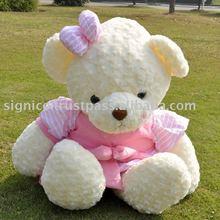 Plush soft pink butterfly dress plush bear high-90CM Shoulder 45CM station