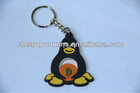 PVC custom cheap wholesale keychains key ring