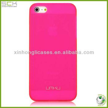 UMKU Slim PC case for iPhone 5, Fluorescent color plastic case for iPhone 5