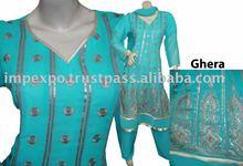 Ladies Fashion wear A-Line Embroidered Frock ( 3 Pcs Suit )(Item No.IMPEXPOLADIESALINE952)