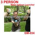 bomba de água lançador de três homens de balão de água lançador
