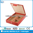 Leather jewelry presentation boxes