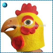 latex chicken head animal masks for masquerade