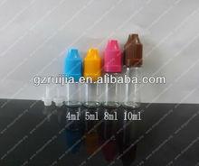 e liquid 10ml bottles small pet bottle&childproof cap pet plastic bottle manufacturer