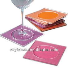 Customized acrylic coaster acrylic cocktail napkin coaster set