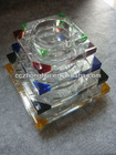 Colorful Crystal Ashtray, Smoking Accessory