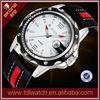 SKONE 9117 fashion big wrist watch for men leather strap watch