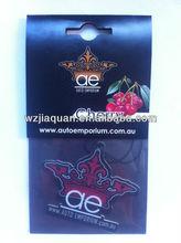 paper car air freshener, perfumed card,