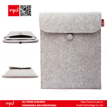 Premium soft wool felt cover case for ipad 1/2/3/4 welcome custom logo label design