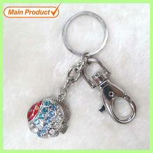 Top Handmade Alloy Crystal Damsel-fish Keychain #16066