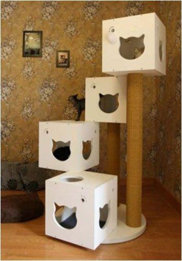 Многоэтажный домик для кошки