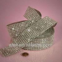 silver color rhinestone buckles for wedding invitations ribbon for wedding/cake