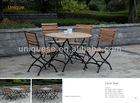 Fendi Teak folding table and chairs garden furniture