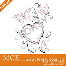 Royal Chinese style rhinestone iron on butterflies