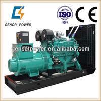 60HZ Four Stroke Above Sea Level Power Generator 1000kw with Cummins Engine