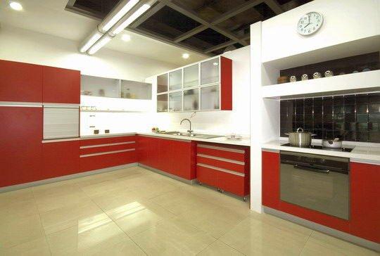 Kitchen Cabinet - Ferrari Red