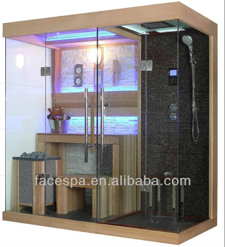 Cabine de douche vapeur avec sauna finlandais pour haut de gamme salle de b - Sauna finlandais prix ...