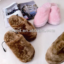 USB warm electric battery heated warmer warm winter house shoes