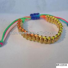 Fashion rivet braided bracelet