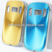FL2228 2013 Guangzhou hot selling aluminium cd pattern back cover phone case for nokia c7