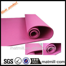 Sell 4mm/6mm/8mm thickness rose red PVC children yoga mat made in China