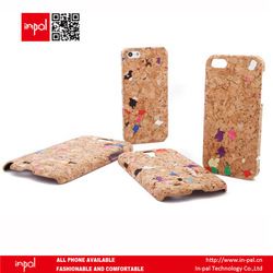 By OEM/ODM manufacturer premium made new case for iphone 5 in cork leather
