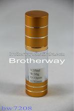 35ml clair bouteille en verre de parfum avec pompe spray& capsule en aluminium