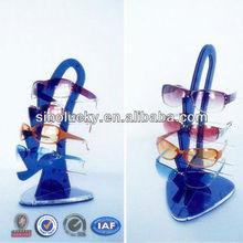 Deep Sea Blue Acrylic Sunglasses Rack