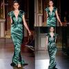 Mermaid Green V-Neckline Evening Dress Fashion 2013 Designed By Zuhair Murad ZM822