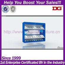 Blue high quality mdf wood folding display shelf