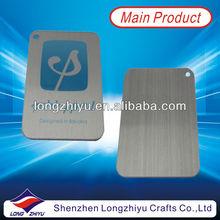 Aluminium brushed nameplate printing logo custom metal labels with small hole