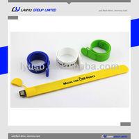 USB wrist bands 4gb ,cheap bracelet usb with logo for gift , USB Bracelets 4gb