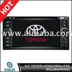 7 inch car dvd player speical for VIOS+COROLLA EX+SOLARA+PRADO high resolution digital touch screen,gps,bluetooth,TV,radio,ipod