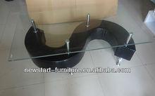 Newstart CF511/S shape frame coffee table in black