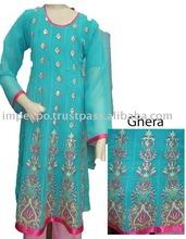 Girls Fashion Dress ( Stylish Embroidered Frock ), 3 Pc Suit ( Fabric : Chifoon )