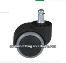 JDKU50-N 50mm plastic black PU dual wheel caster