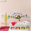 Zy1203 ZooYoo Original macaco bonito Sweet Dream Hot Selling decalques removíveis adesivos decorações Art crianças Nursery