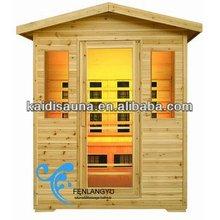 3 personas exterior lejos infrare sauna cabaña de madera con calentador de cerámica ( KD-5003H )