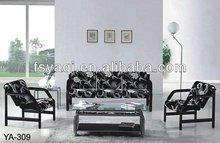 Best quality fabric padding office leisure sofa YA-309(1+1+3)