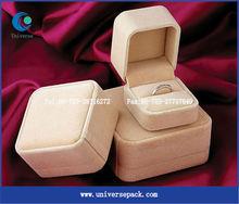 2013 popular custom velvet jewelry packaging box