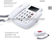 RF technology Remote Control SOS telephone model, telephone table with drawer